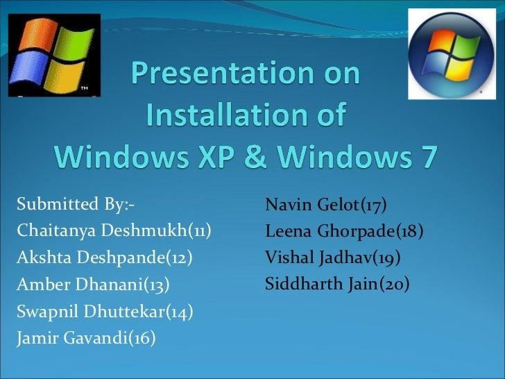 Submitted By:- Chaitanya Deshmukh(11) Akshta Deshpande(12) Amber Dhanani(13) Swapnil Dhuttekar(14) Jamir Gavandi(16) Navin...