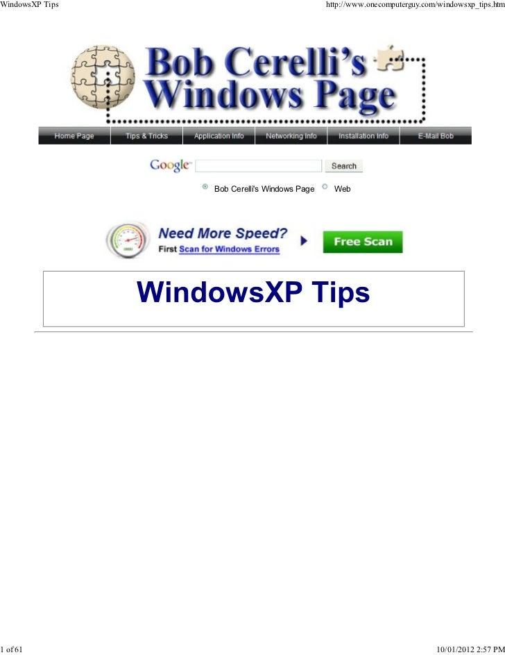 Windows xp tips