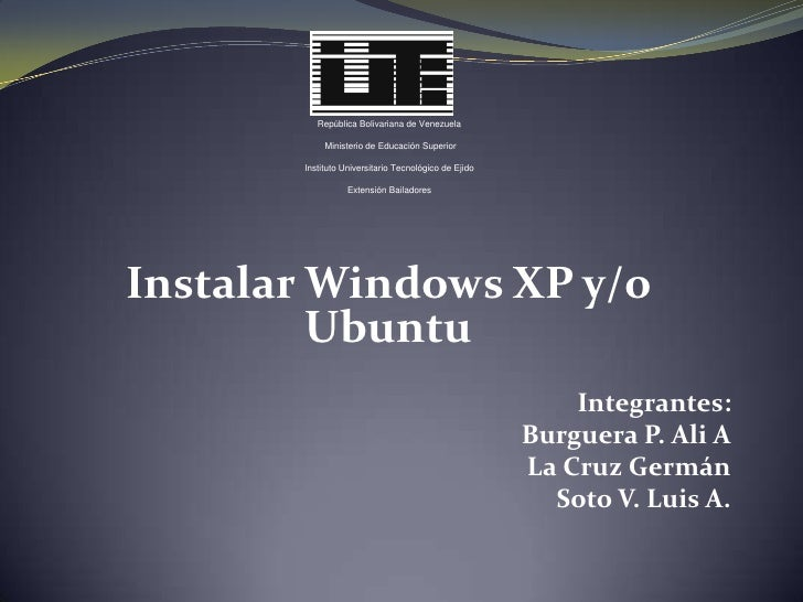 Windows Xp Ubuntu