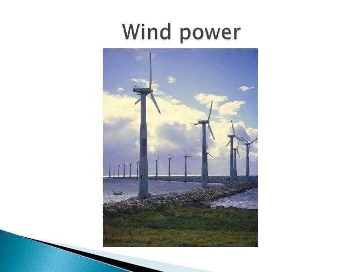 Wind power<br />