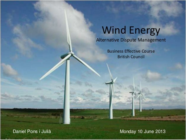 WIND POWER AND CONFLICT MANAGEMENT