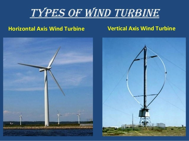 types of wind turbine horizontal axis wind turbine vertical axis