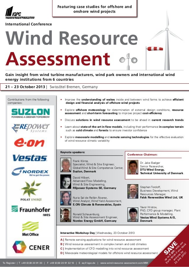 International Conference Wind resource assessment