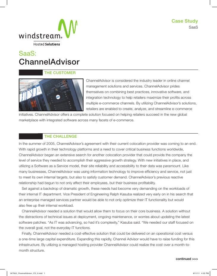 Case Study: Windstream Channel Advisor