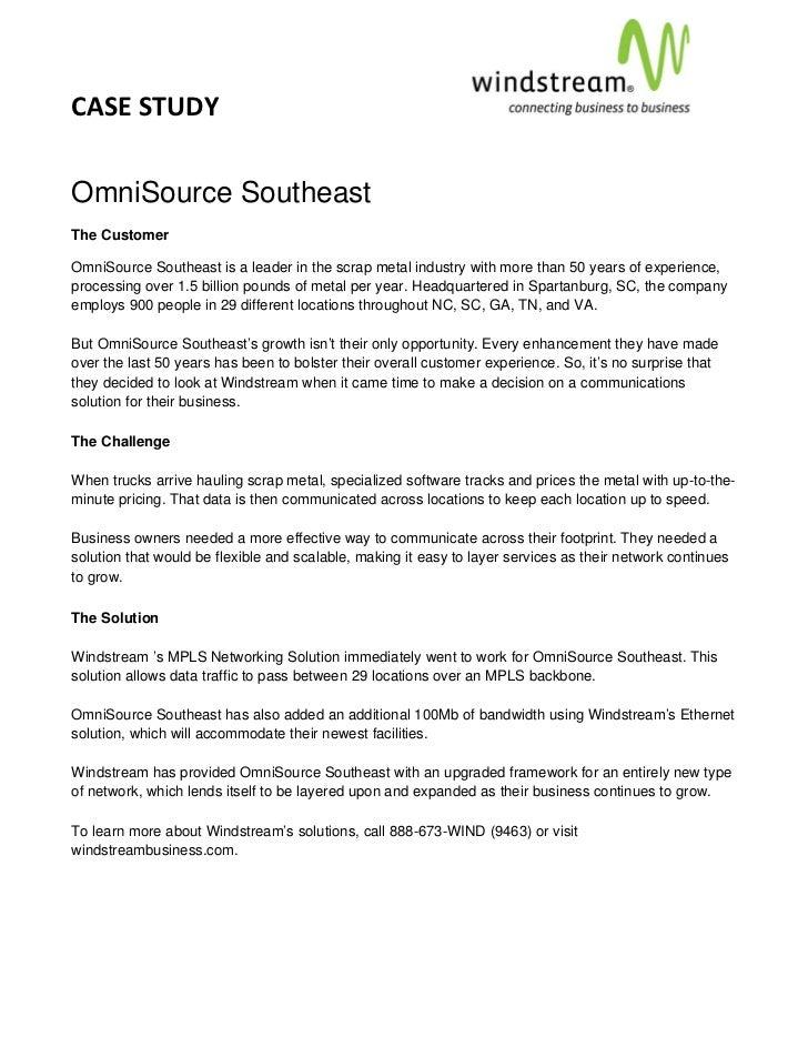 CASESTUDY                                                                                     OmniSource SoutheastT...