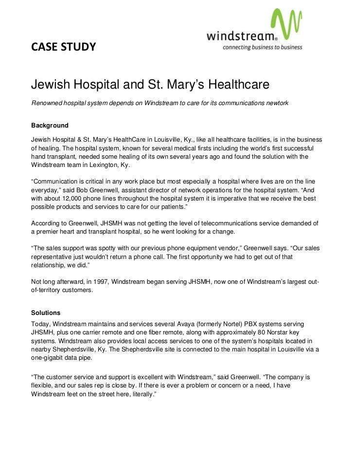CASESTUDY                                                                                         Jewish Hospital a...