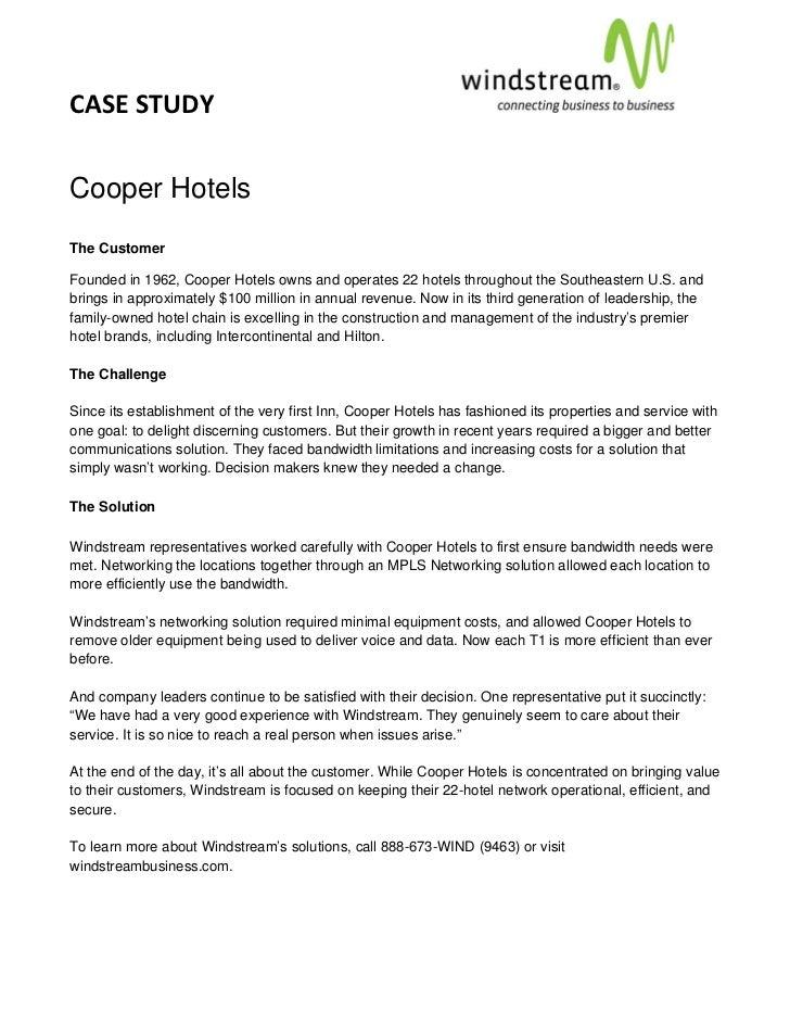 CASESTUDY                                                                                     Cooper HotelsThe Cust...