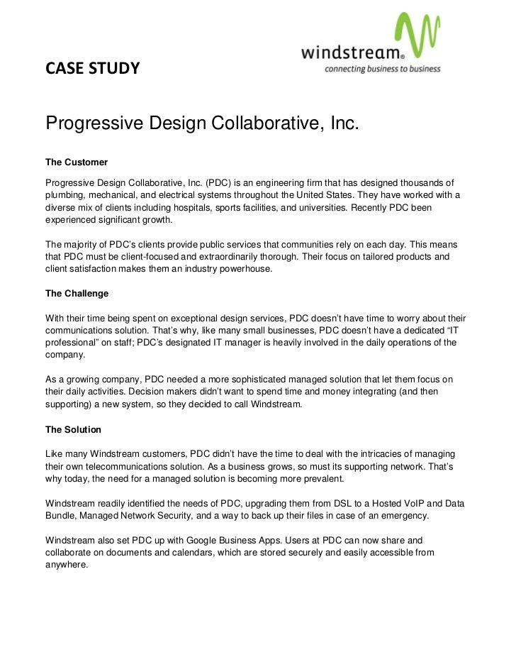 CASESTUDY                                                                                  Progressive Design Colla...