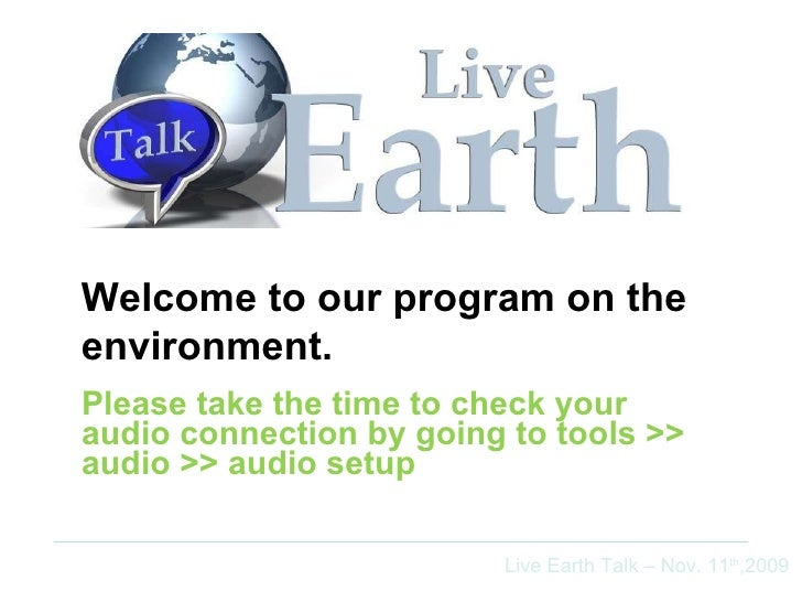 Please take the time to check your audio connection by going to tools >> audio >> audio setup Welcome to our program on th...