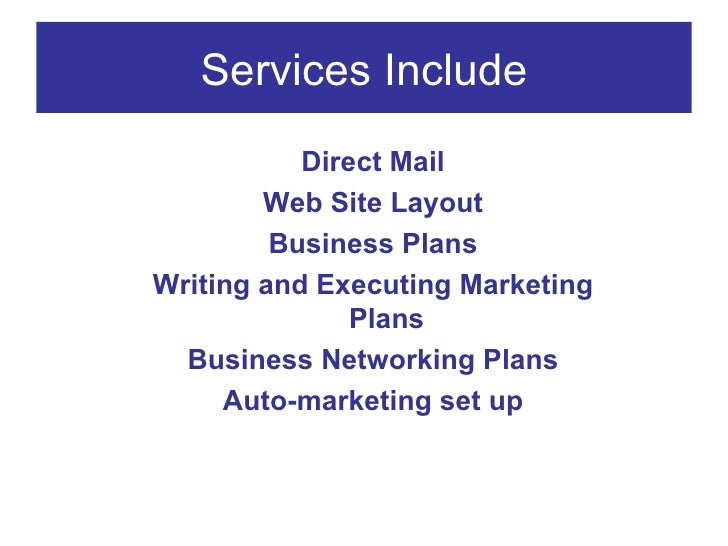 Business Plan What To Include