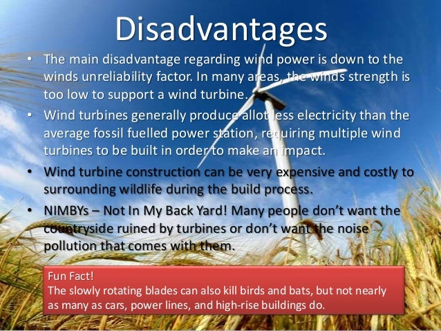 disadvantages of wind energy pdf