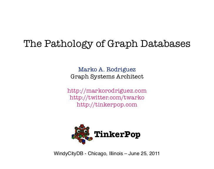 The Pathology of Graph Databases              Marko A. Rodriguez            Graph Systems Architect           http://marko...