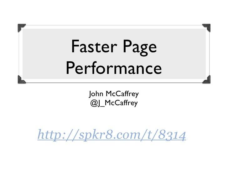 Windycityrails page performance
