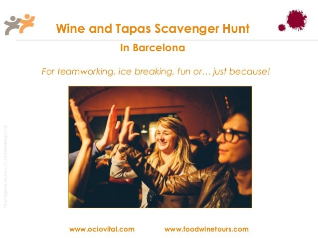 Wine and Tapas Scavenger Hunt in Barcelona