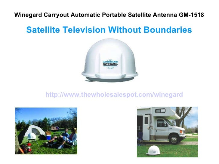 Winegard Carryout Automatic Portable Satellite Antenna GM-1518 Satellite Television Without Boundaries http://www.thewhole...