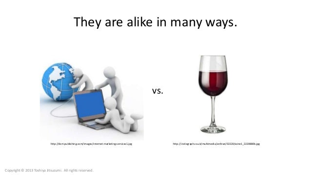 They are alike in many ways. http://dsm-publishing.com/images/internet-marketing-services1.jpg http://i.telegraph.co.uk/mu...