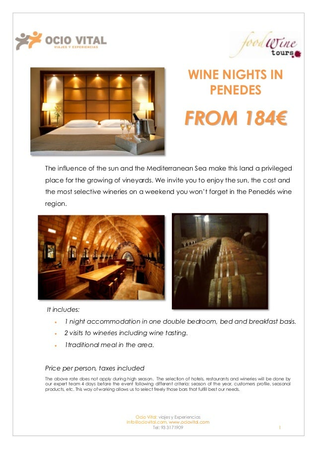 WINE NIGHTS IN                                                                      PENEDES                               ...