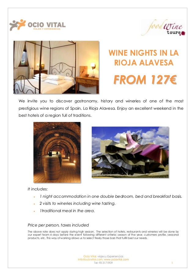 Wine nights in Rioja Alavesa