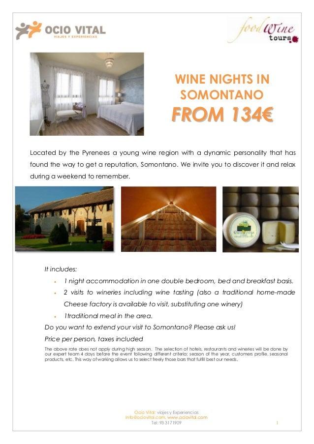 Wine nights in Somontano
