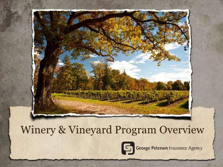Wine Industry Program Overview