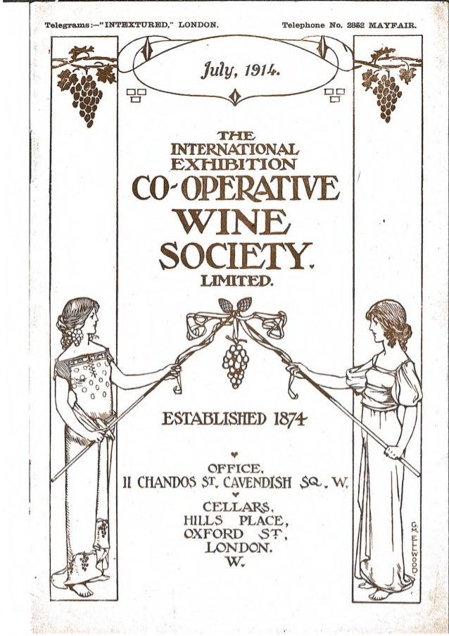 Wine society list July 1914