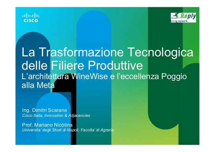 Cisco: Wine wise project a TBIZ2011