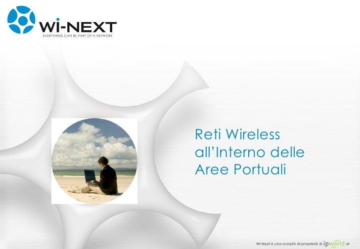 Reti Wireless all'Interno delle Aree Portuali