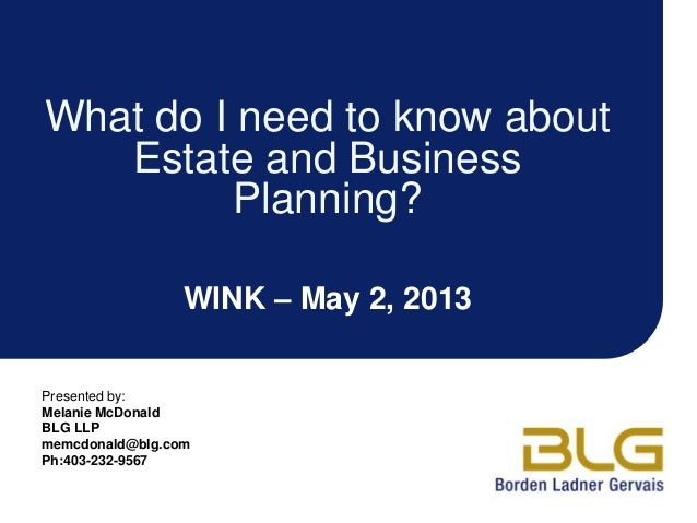 What do I need to know about estate planning