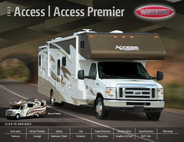 Winnebago Access and Access Premier 2013 Brochure