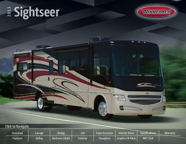 2013   Sightseer  2013          SightseerClick to Navigate         Overview   Lounge       Dining         Cab      SuperSt...