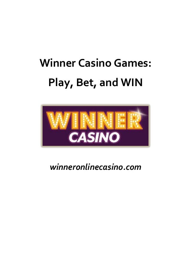 online casino winner by games online