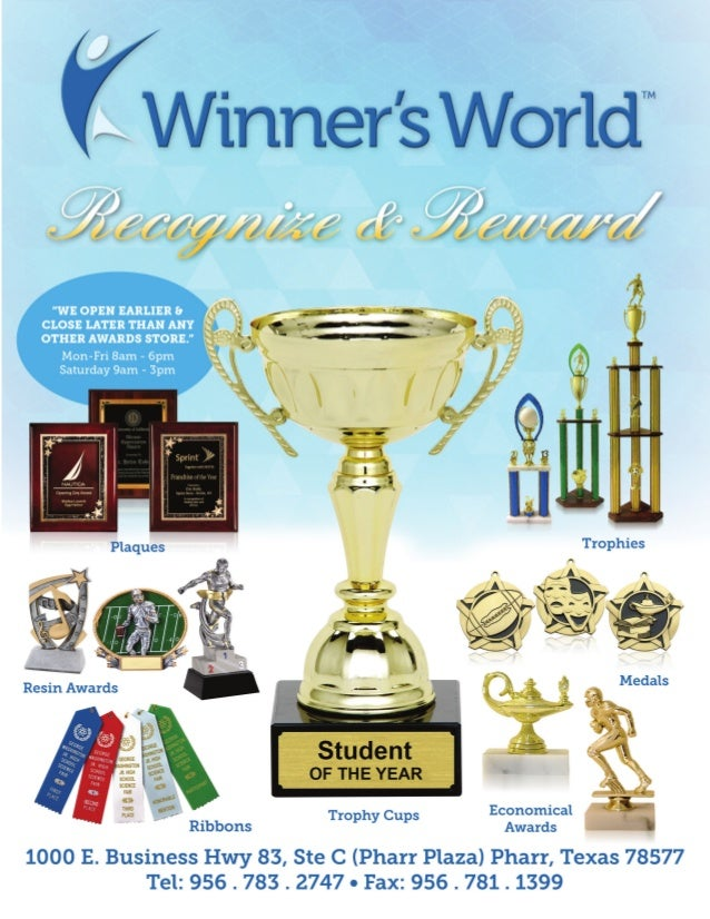 Winner's World Recognize & Reward Sport & School Awards Catalog