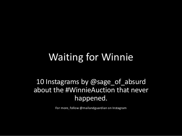 Waiting for Winnie10 Instagrams by @sage_of_absurdabout the #WinnieAuction that neverhappened.For more, follow @mailandgua...