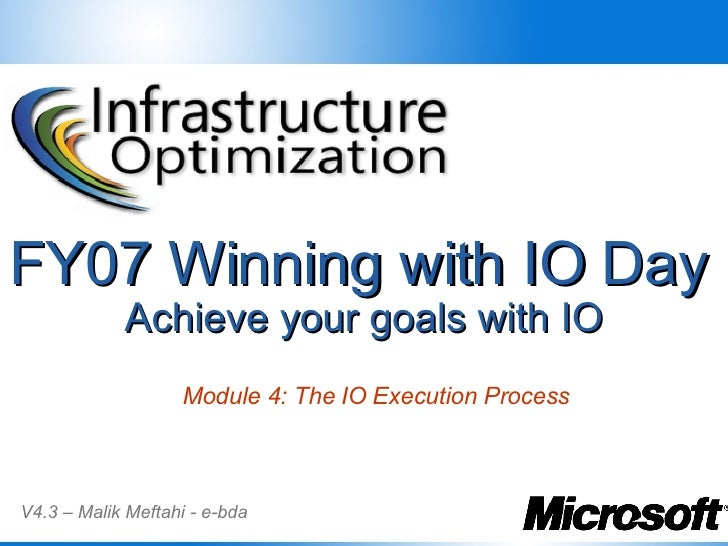 Winning With Io Partner   Module 4   Io Execution Process