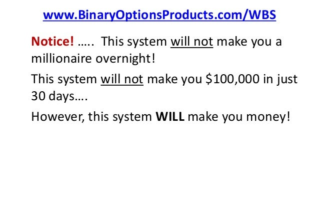 Binary options pro signals scam