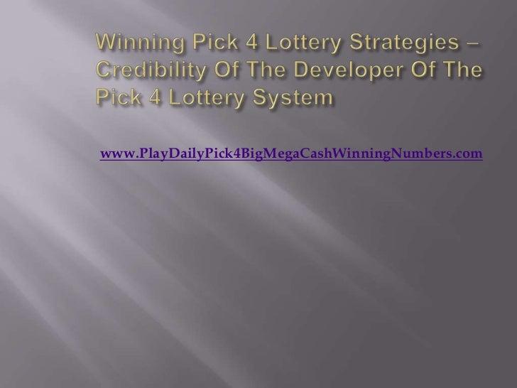 win pick 4 strategies