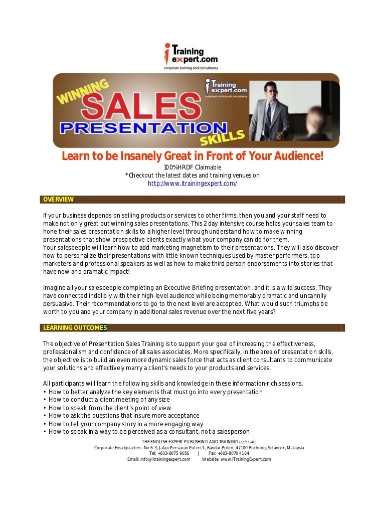 Learn to be Insanely Great in Front of Your Audience!                                               100% HRDF Claimable   ...