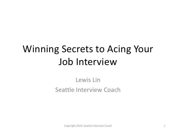 Winning Secrets to Acing the Job Interview