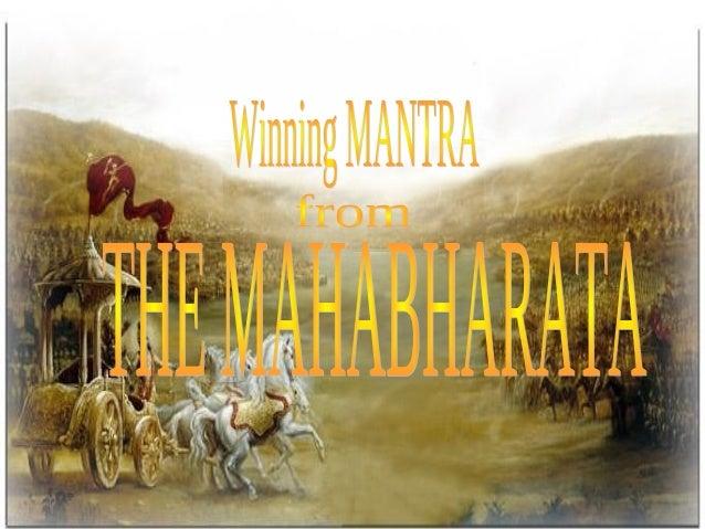 Winning strategy -learnt from Mahabarat