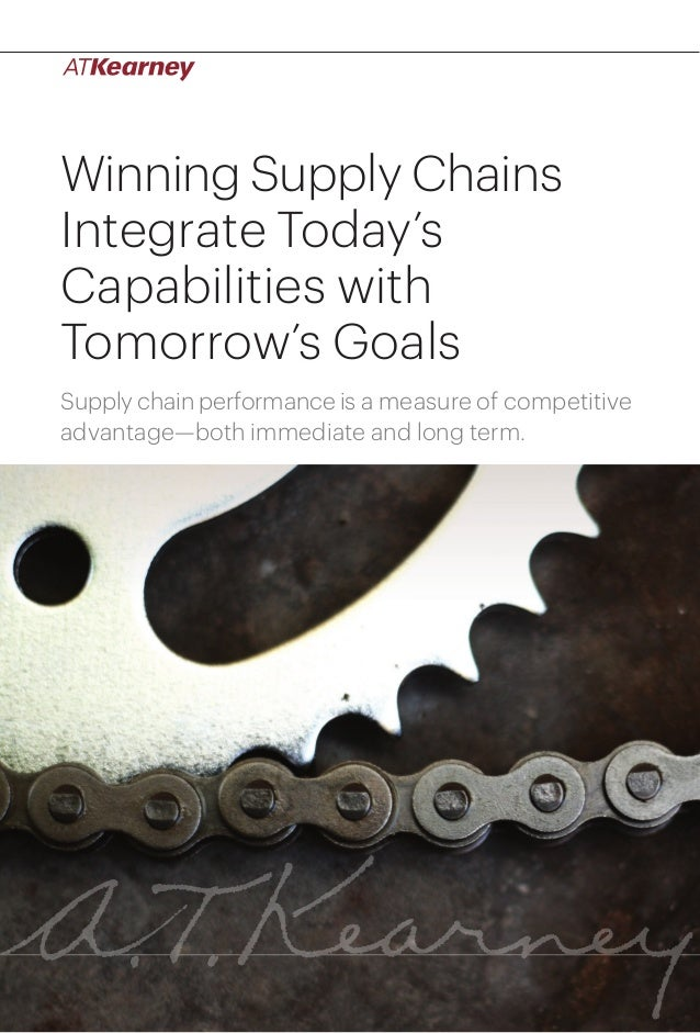 1Winning Supply Chains Integrate Today's Capabilities with Tomorrow's Goals Winning Supply Chains Integrate Today's Capabi...