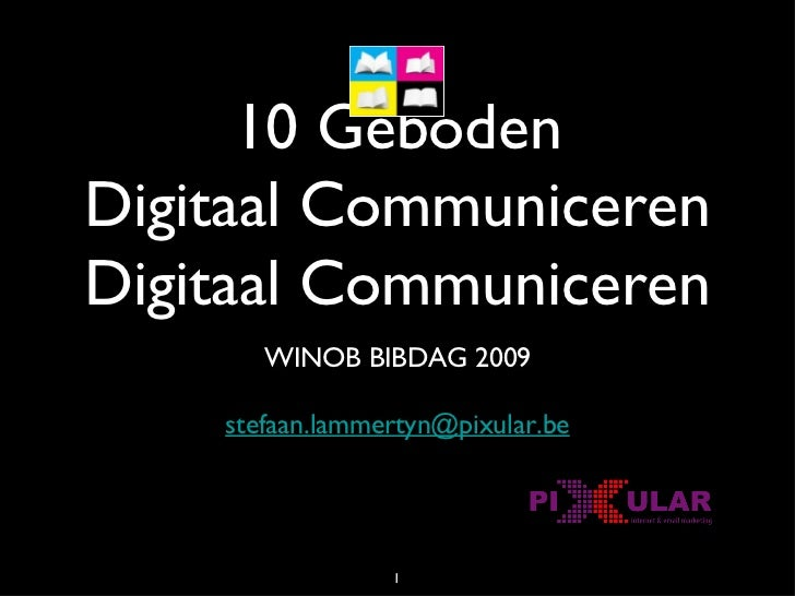 De 10 geboden van email marketing - WINOB