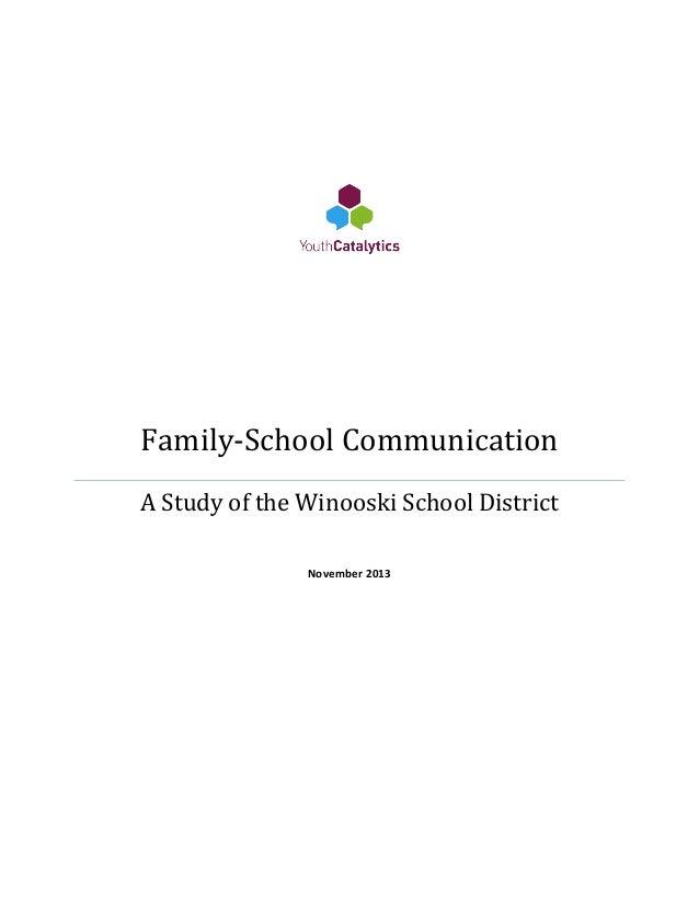 Winooski Family-School Communication Study