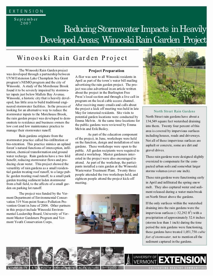 September       2007                               Reducing Stormwater Impacts in Heavily                         Develope...