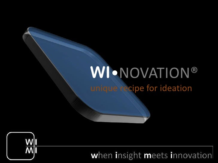 WI•NOVATION®unique recipe for ideation
