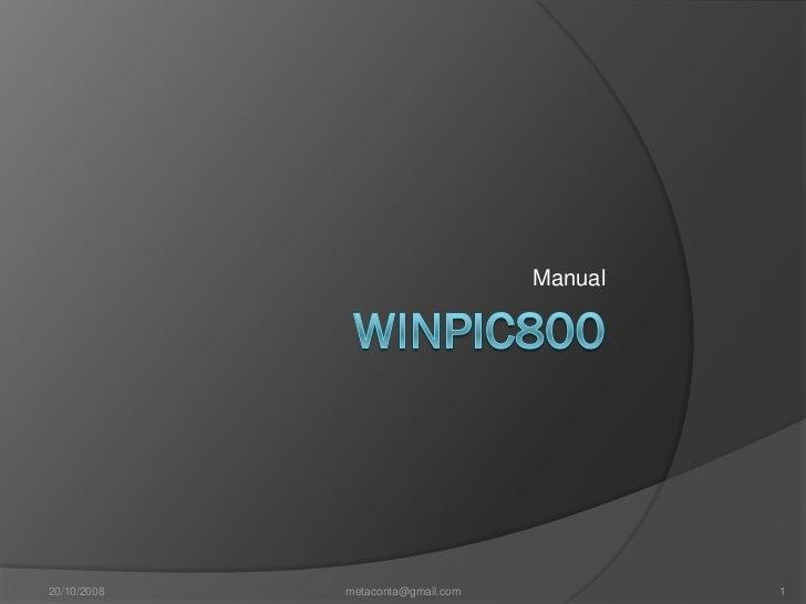 Manual básico WinPic800