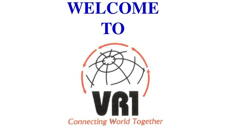 WELCOMETO<br />VR1 <br />