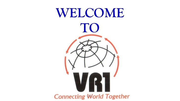WELCOME TO VR1
