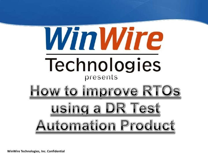 presentsHow to improve RTOs using a DR Test Automation Product<br />