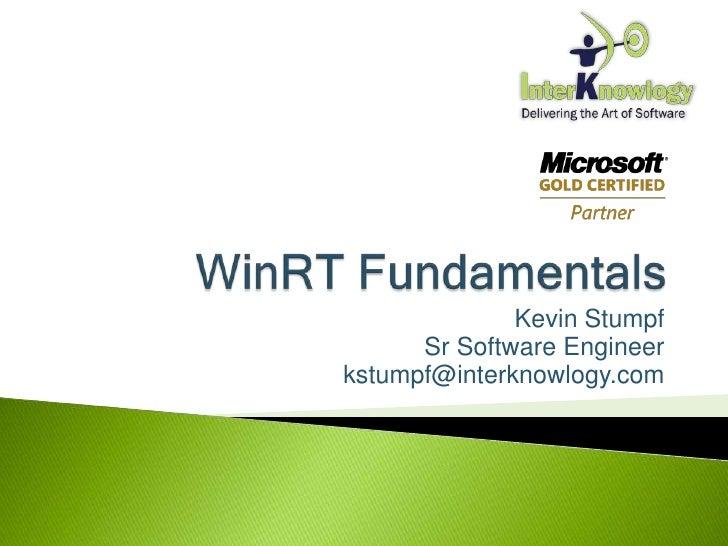 Kevin Stumpf      Sr Software Engineerkstumpf@interknowlogy.com