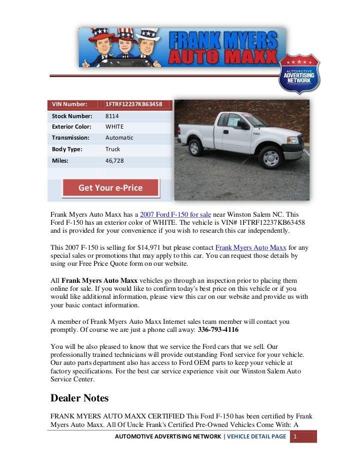 Winston salem ford f 150 for sale